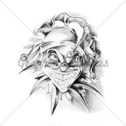 500x500 Drawn Clown Joker