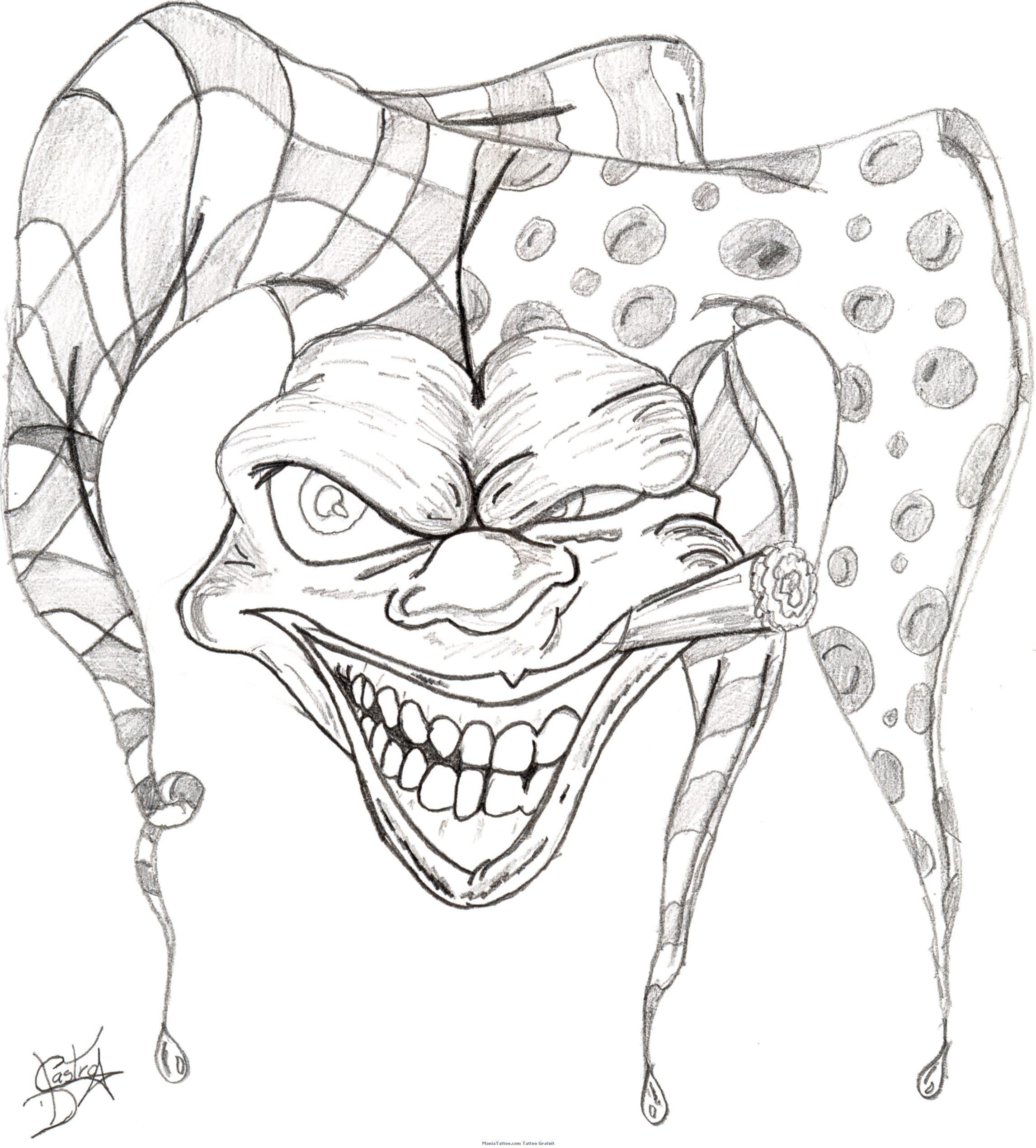 2292x2540 Best Clown Tattoo Designs