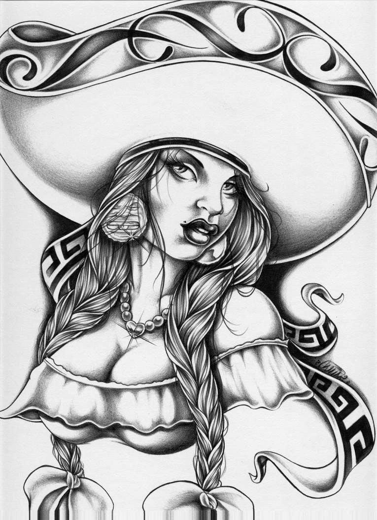 765x1056 Prison Art Tattoos Mexican Gangster Drawings Picture My Style