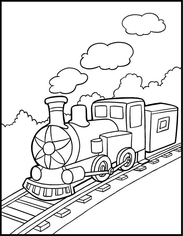 618x798 Choo Choo Train Coloring Pages Coloring Page For Kids