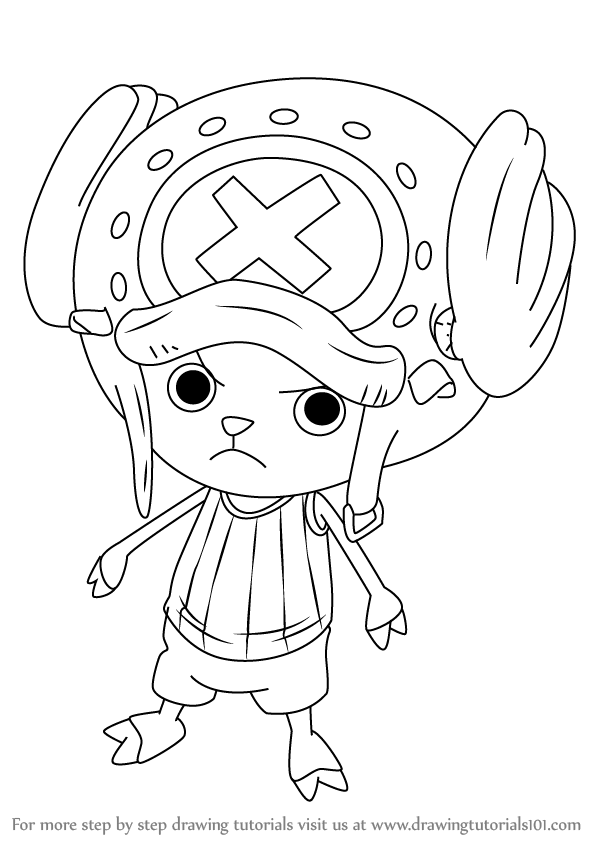 598x844 Learn How To Draw Tony Tony Chopper From One Piece (One Piece