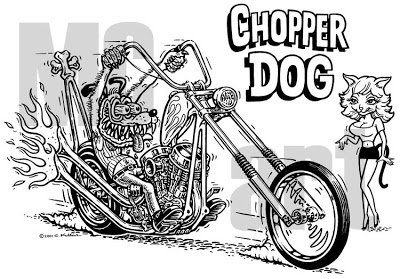 400x279 Mc Artmotorcycle Art This Month's Header, The Chopper Dog Phenomenon