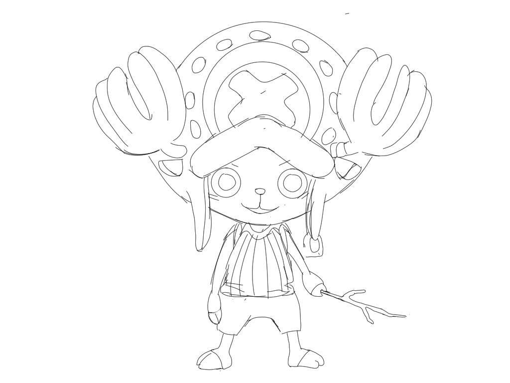1024x768 Tony Tony Chopper Drawing One Piece Amino