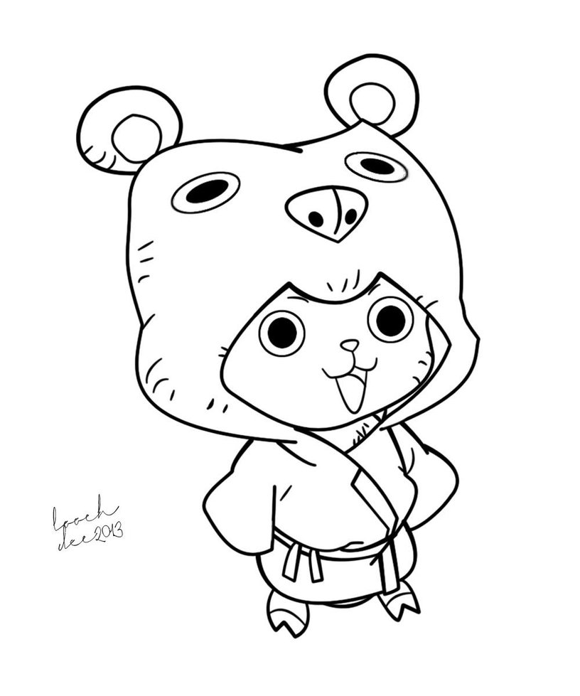 816x979 Tony Tony Chopper Line Art 2 By Loochontheloose
