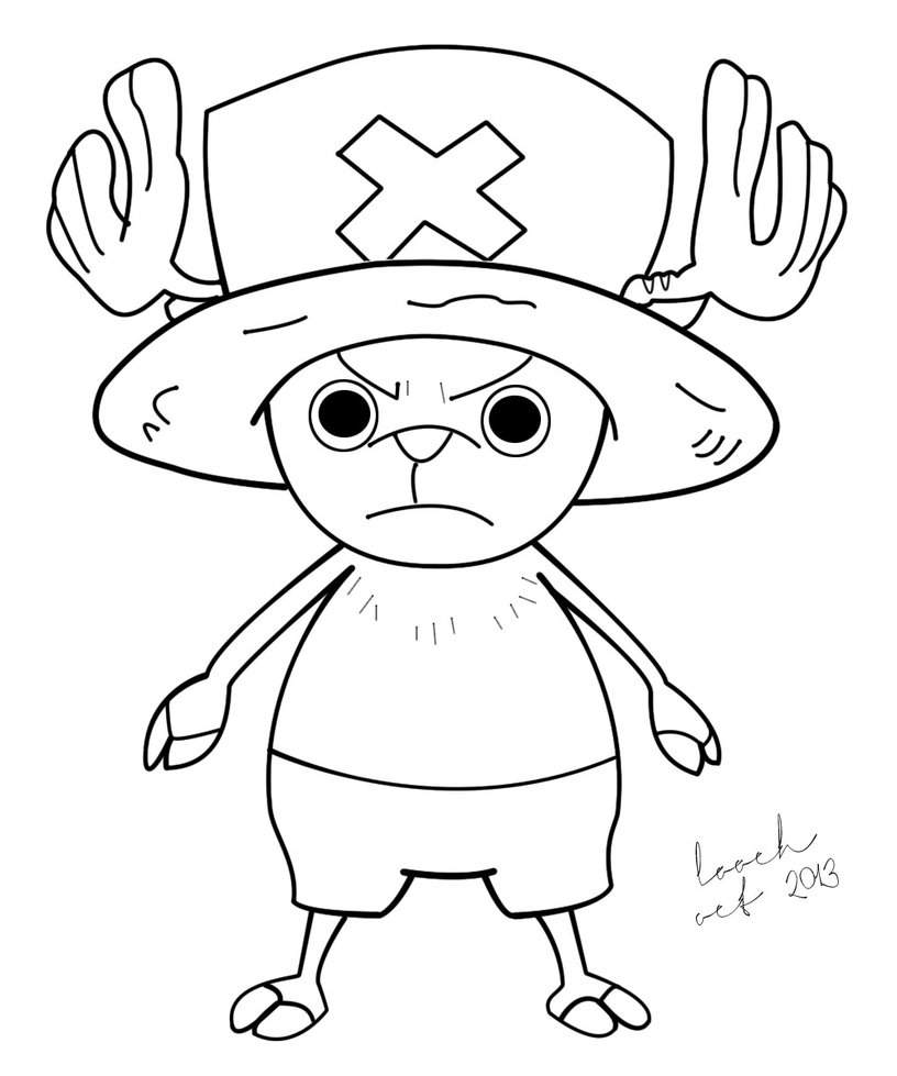 816x979 Tony Tony Chopper Line Art By Loochontheloose