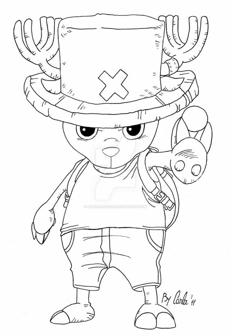 741x1077 Tony Tony Chopper Lineart By Airforlife2011