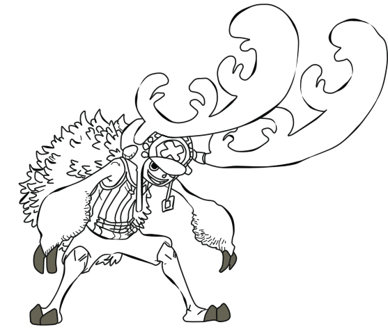 557x480 Lineart Chopper New Horn Point By Thebl