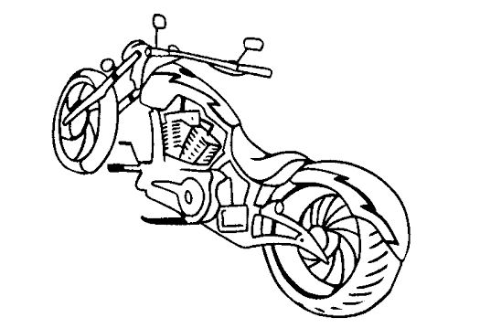 525x359 Chopper Motorcycle Coloring Pages Drawing Board Weekly