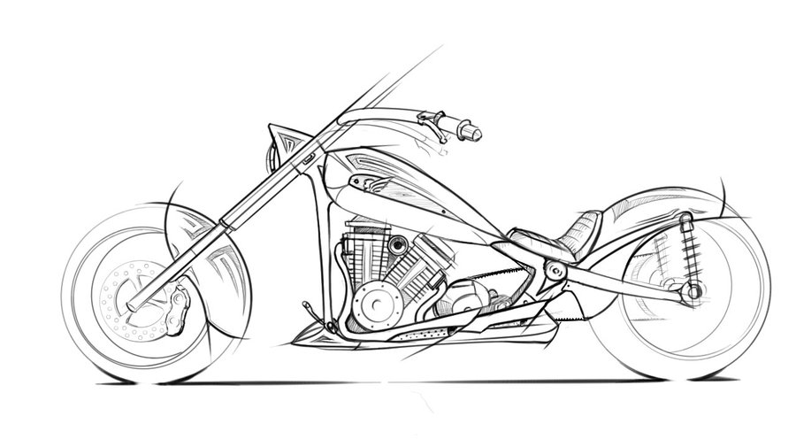 900x505 Chopper Sketch By Mikednhm