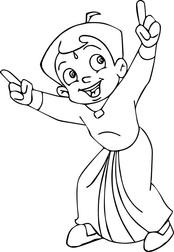 chhota bheem coloring pages - photo#16