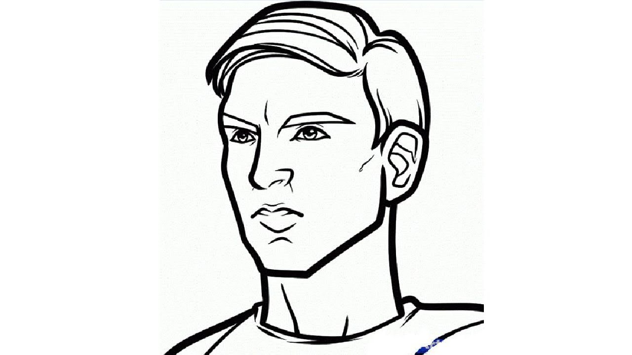 1280x720 How To Draw Chris Evan Captain America Step By Step Easy Drawing
