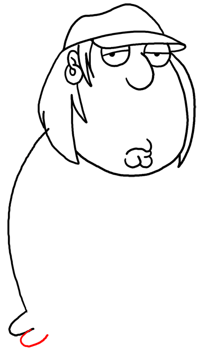 400x694 How To Draw Chris Griffin From Family Guy Step By Step Drawing