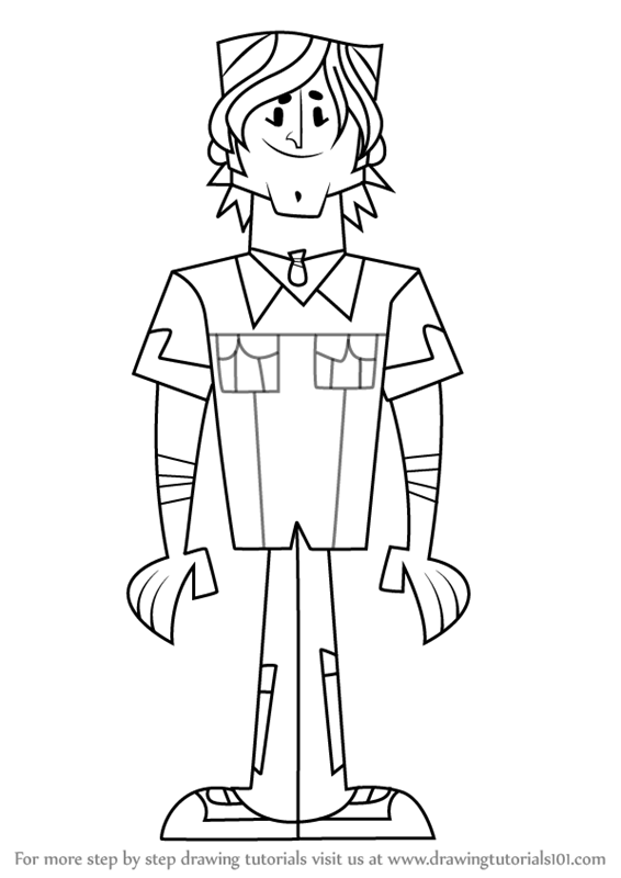 566x800 Learn How To Draw Chris From Total Drama (Total Drama) Step By