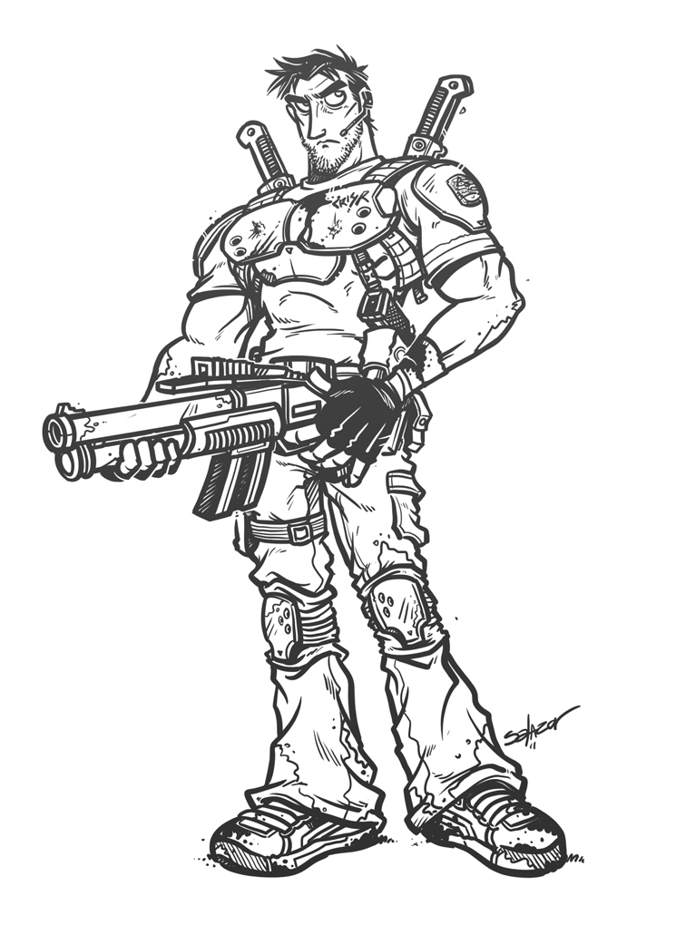745x1020 Resident Evil Chris Redfield By Petipoa