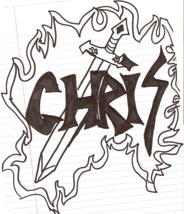 600x696 Sword With Name Chris By Swordmasterg