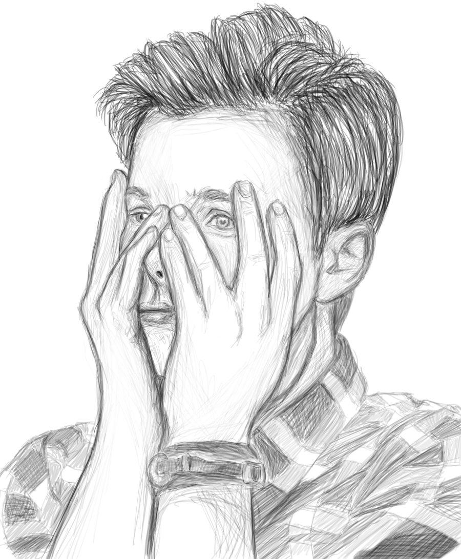 900x1091 Chris Colfer Drawing By Lalalandfangirl