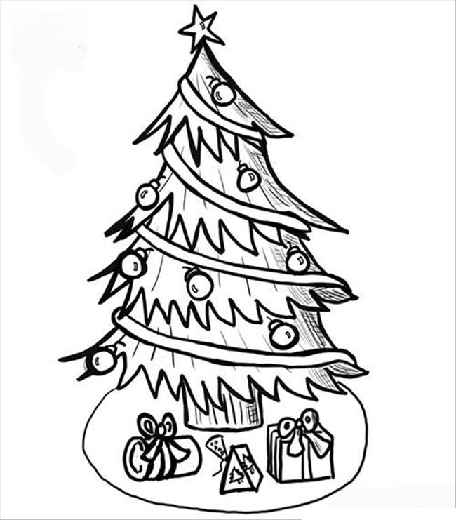 650x741 Christmas Tree Coloring Pages Holiday Coloring Pages