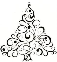 236x255 Inkadinkado Calligraphy Christmas Tree Wood Stampamazonarts