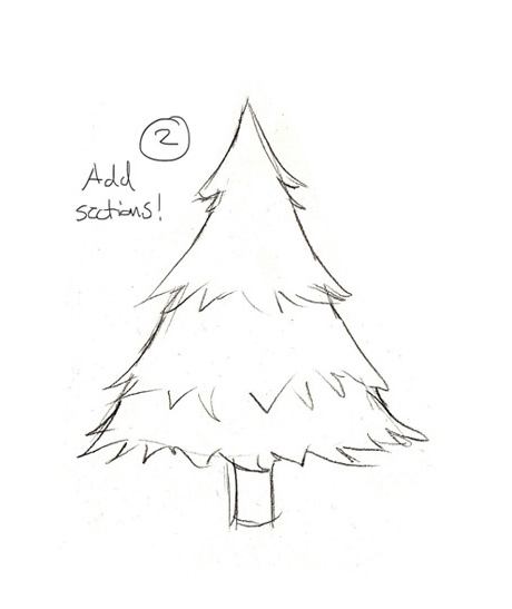 460x547 Simple Christmas Tree Drawing