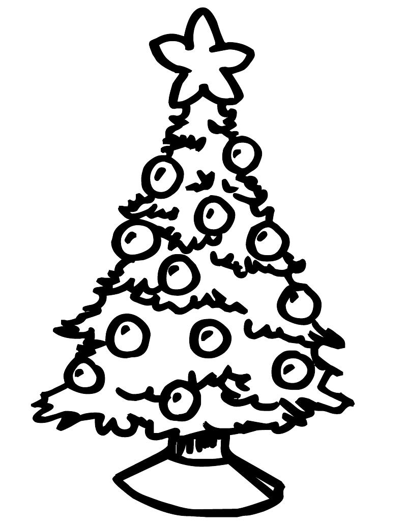 Chrismas Tree Drawing at GetDrawingscom Free for personal use