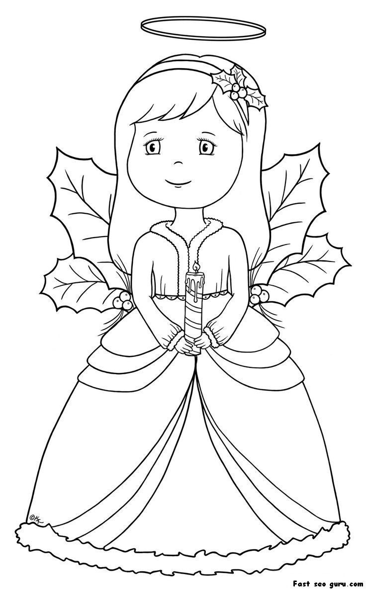 736x1187 Christmas Angel Ornaments Coloring Pages Printable Coloring Page