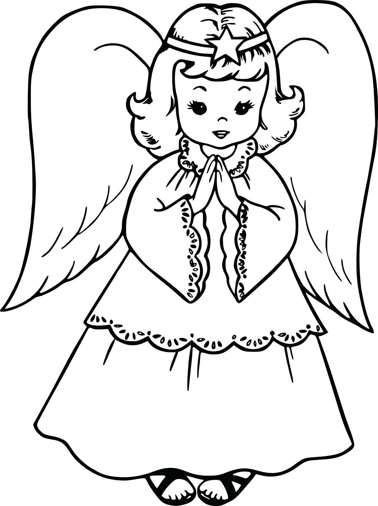 1250x1672 Coloring Christmas Angel Coloring Page