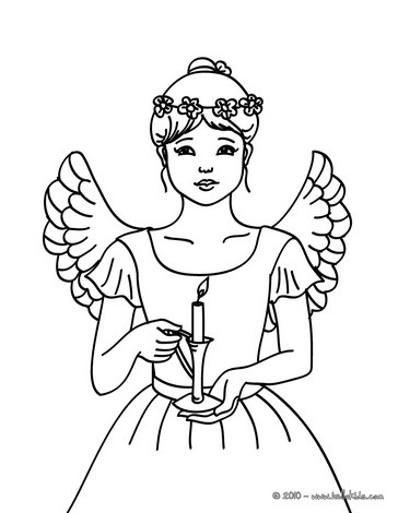 364x470 Christmas Angels Coloring Pages