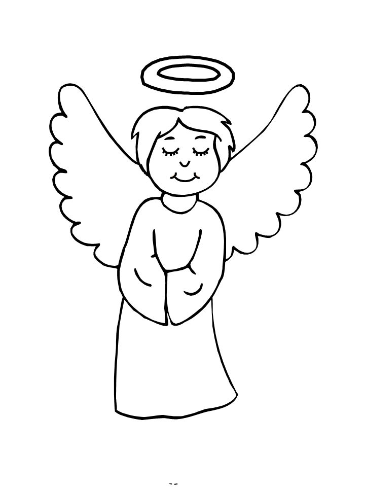 Christmas Angel Drawing at GetDrawings | Free download