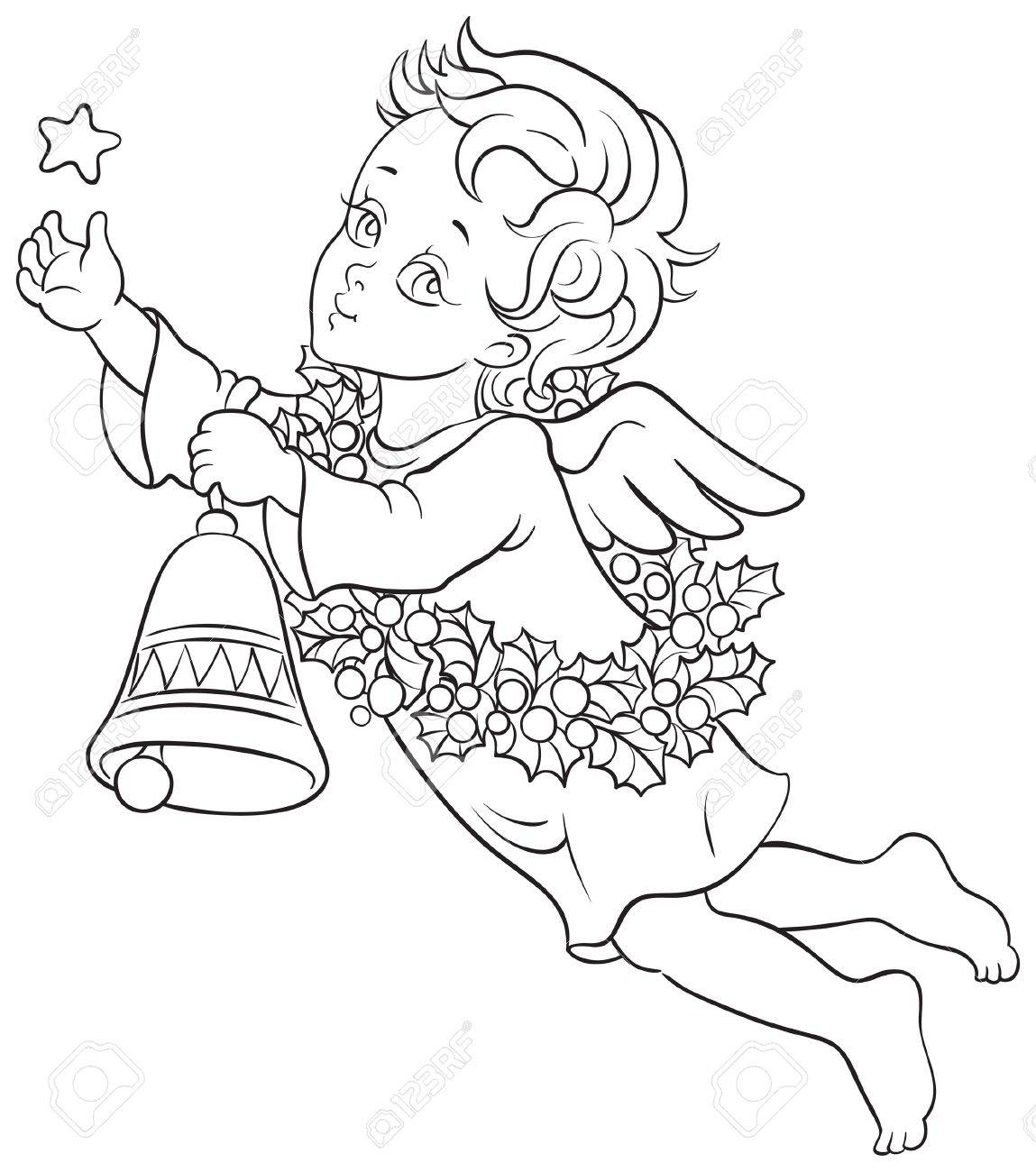 1149x1300 Christmas Angel Drawing. Cute Angel. Free Christmas Candle