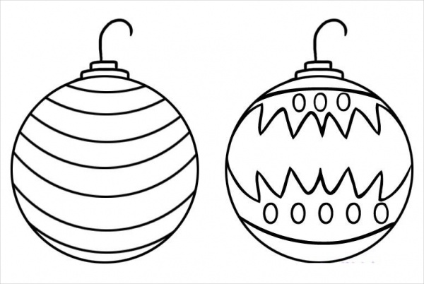 Christmas Balls Drawing