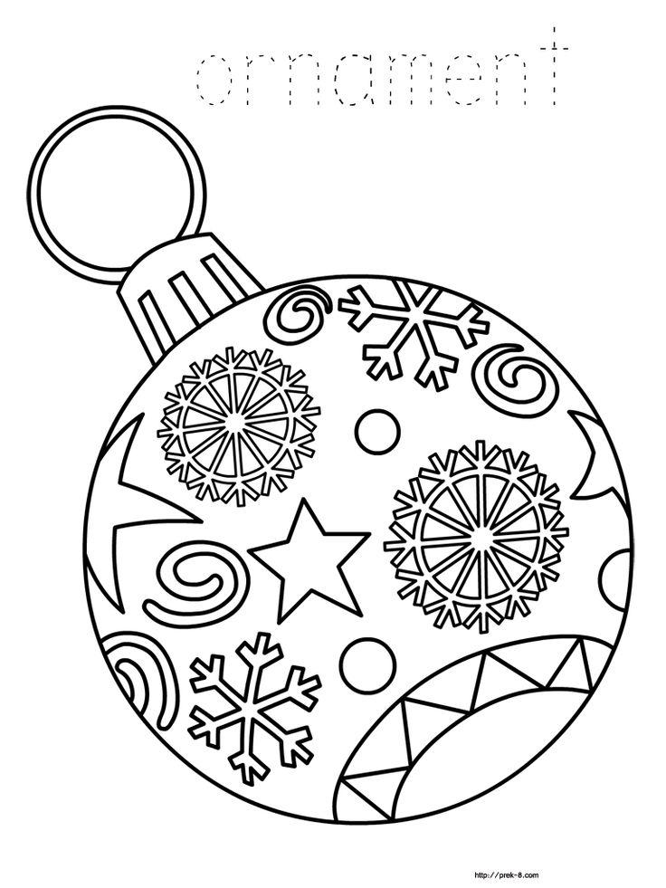 736x981 Christmas Decorations To Colour Printable