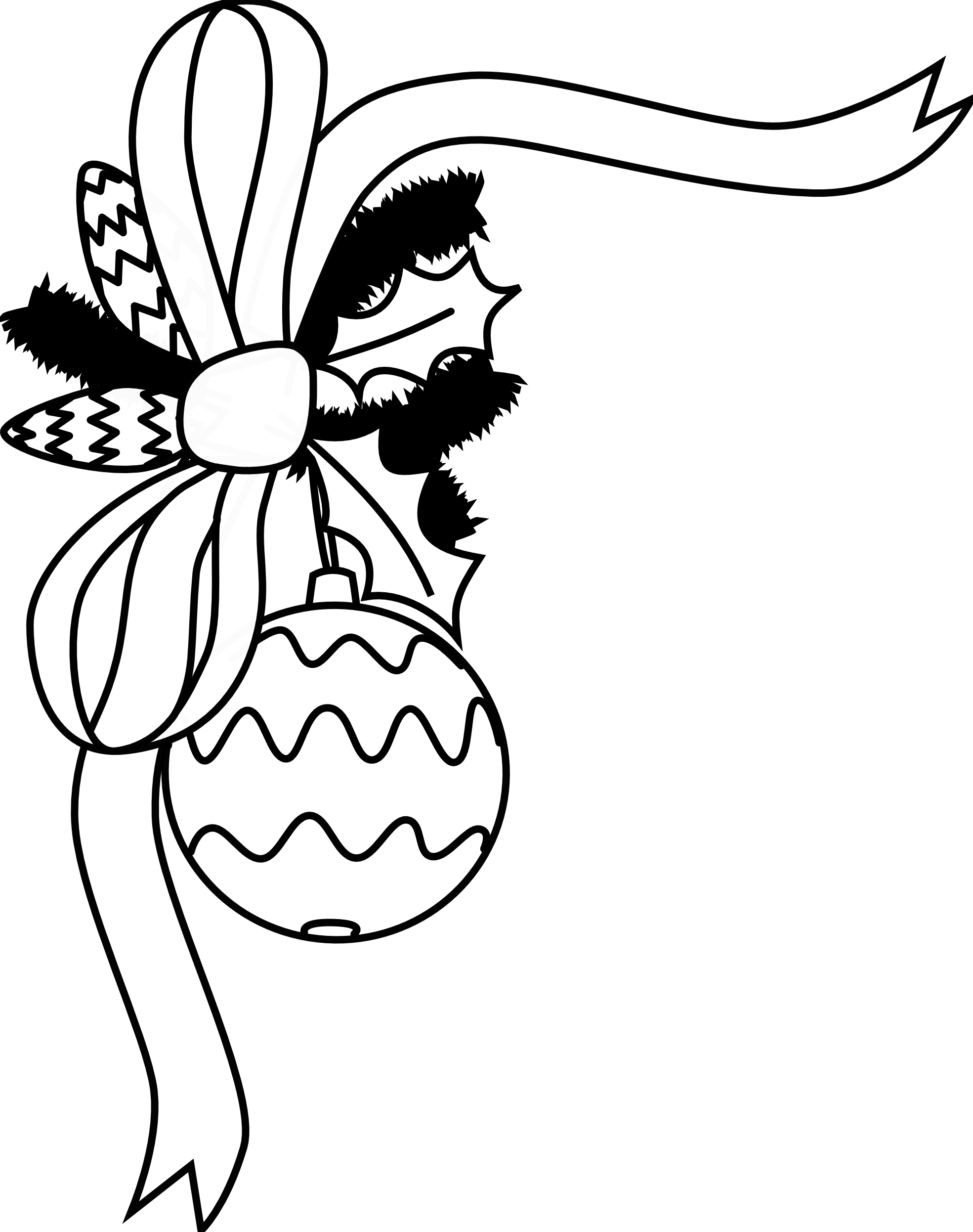 1969x2492 Christmas Ornament Coloring Pages Printable Free