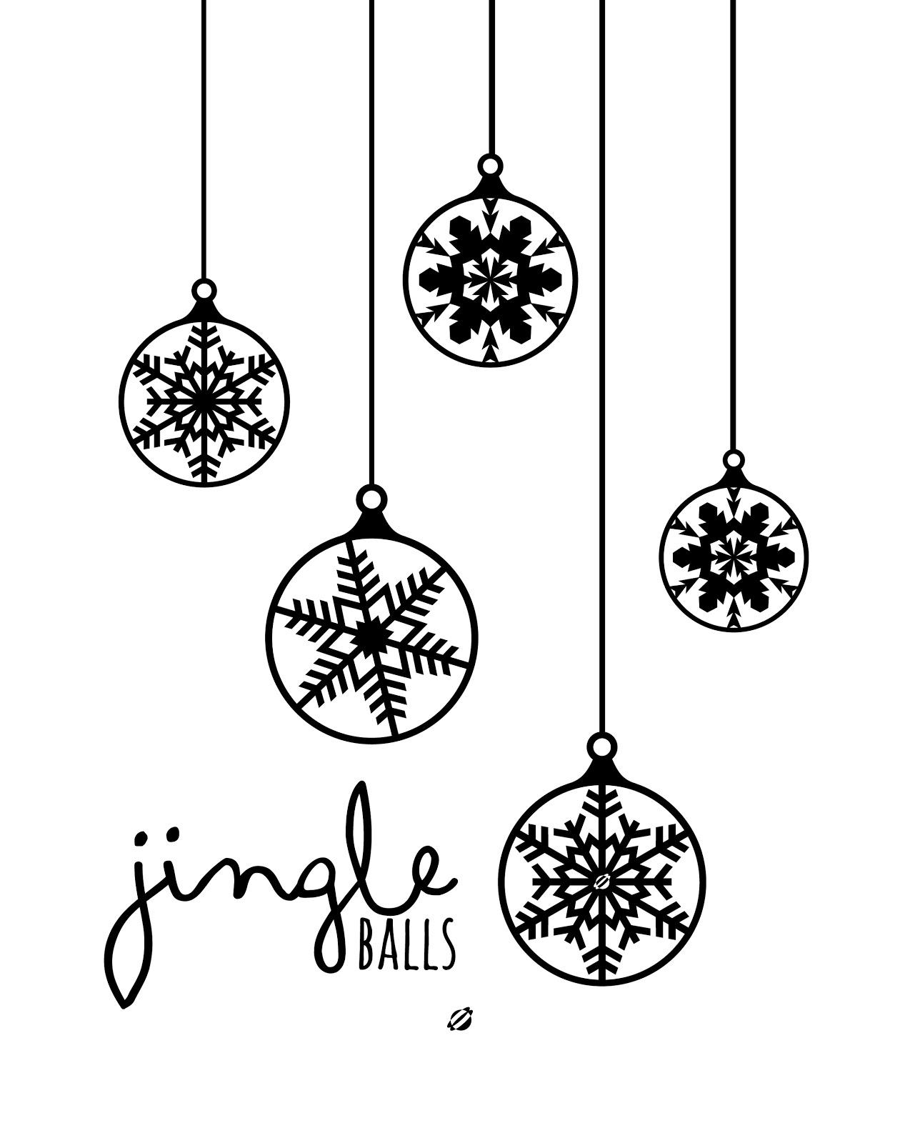 1288x1600 Lostbumblebee Jingle Balls. A Cheeky Little Christmas Print.