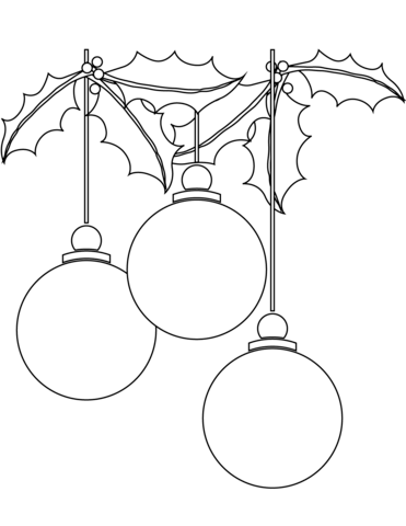 371x480 Christmas Ball Ornaments Coloring Page Free Printable Coloring Pages