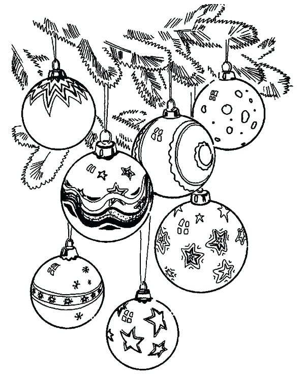 600x738 Christmas Balls Coloring Pages Ornament Coloring Pages Christmas