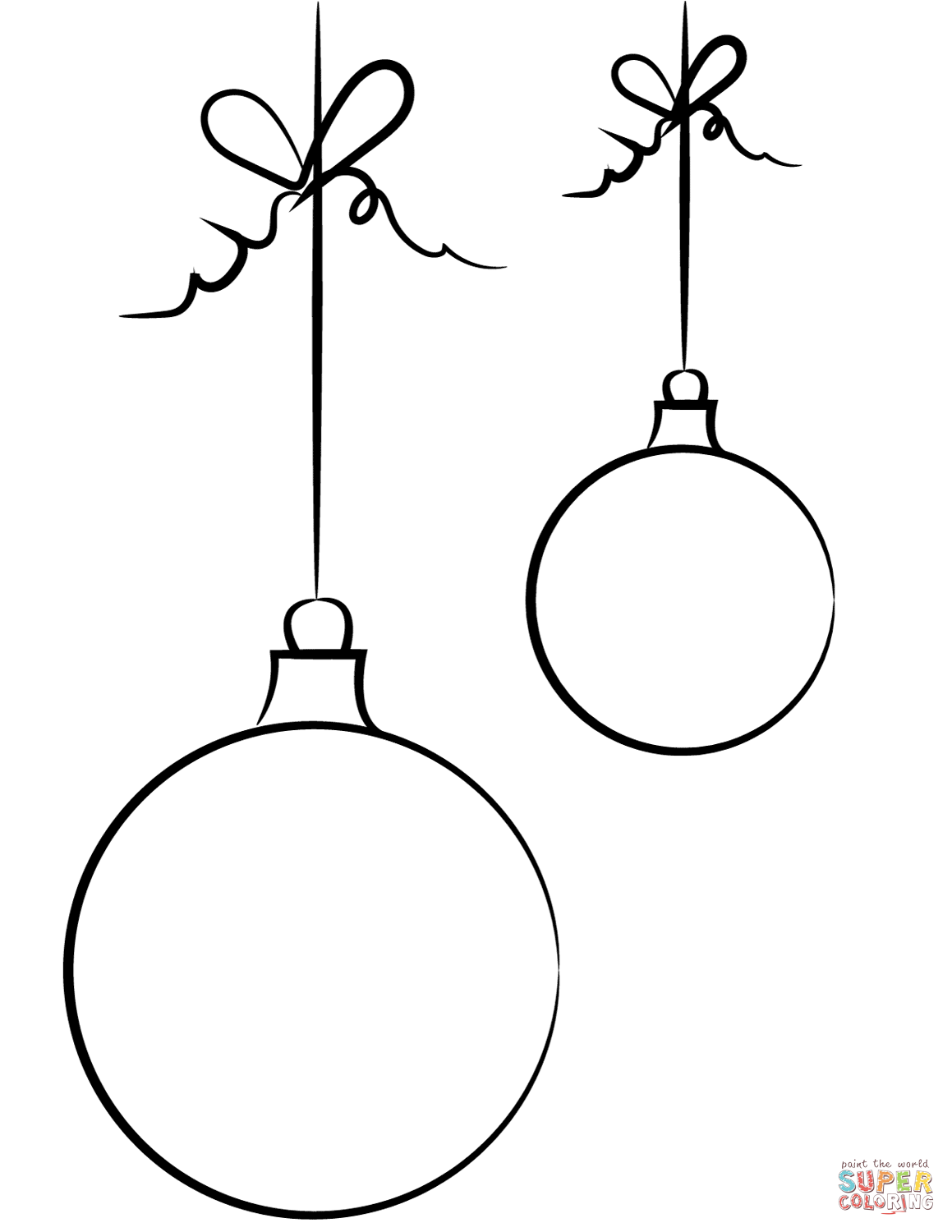 1159x1500 Christmas Balls Coloring Page Free Printable Coloring Pages