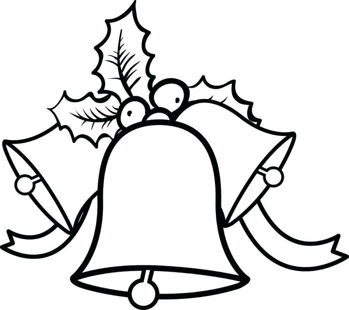 700x622 Pictures Of Christmas Bells To Color Clocks Bells Coloring Page
