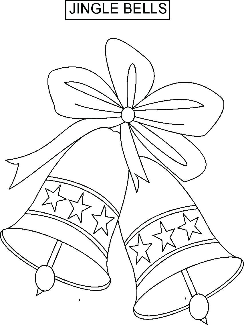 853x1134 Coloring Christmas Bells Coloring