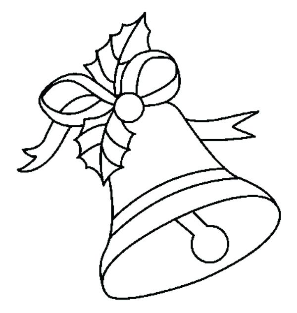 600x632 Christmas Bell Coloring Download Coloring Pages Bells Coloring