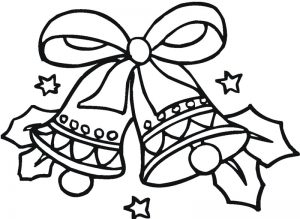 300x219 Christmas Bell Coloring Pages