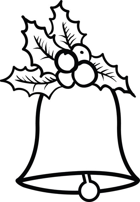 488x700 Christmas Bells Coloring Page