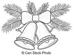 256x194 Christmas Bells, Contours. Christmas Decoration, Symbolical