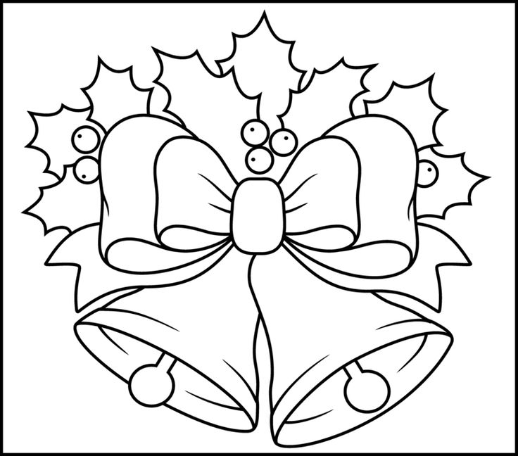 820x670 Free Coloring Pages For Christmas Bells Children 736x648 Holley Clipart