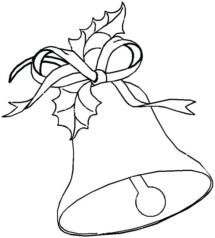 712x785 Pictures Of Christmas Bells To Color Clocks Bells Coloring Page