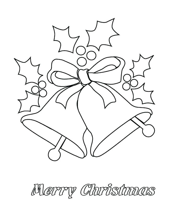 670x820 Pictures Of Christmas Bells To Color Free Printable Merry Coloring