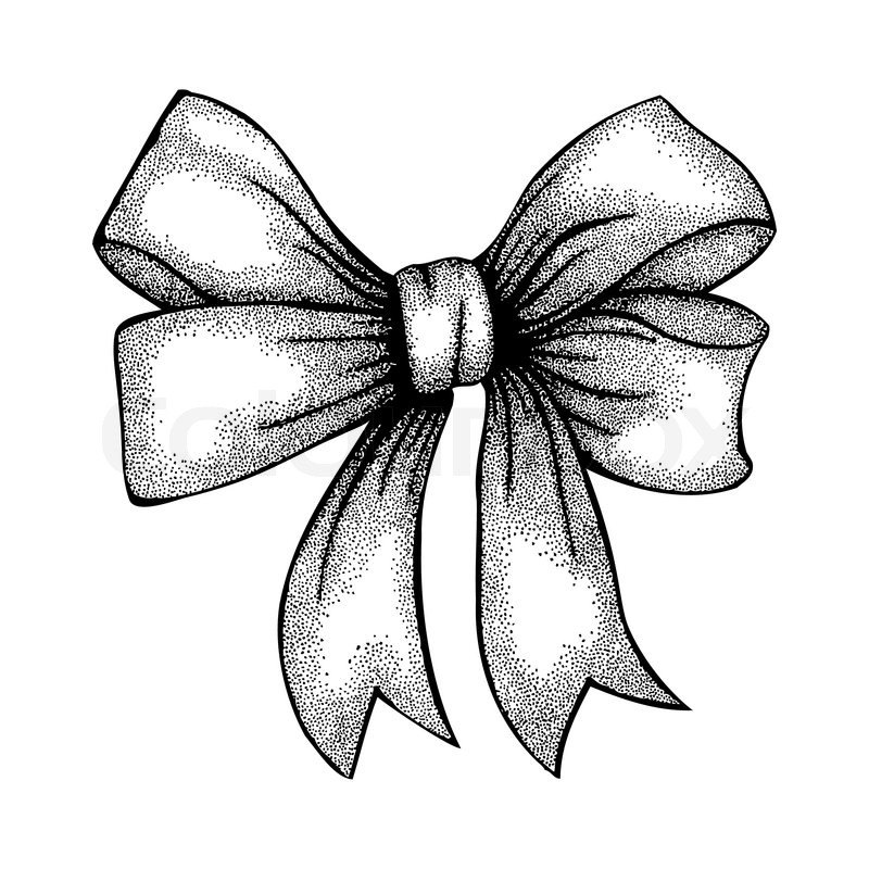 Christmas Bow Drawing
