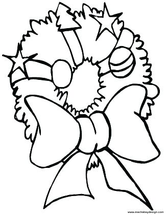 325x420 Christmas Bow Coloring Page 1 Free Pages