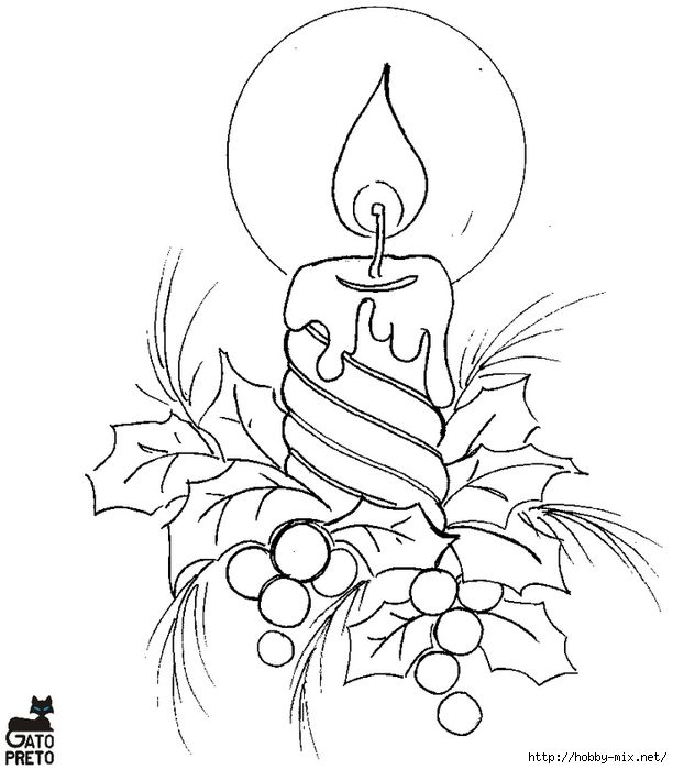 Christmas Candle Drawing