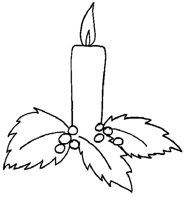 600x643 Christmas Candle Holy Light Coloring Pages Vianoce