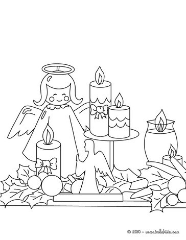 364x470 Christmas Candles Coloring Pages